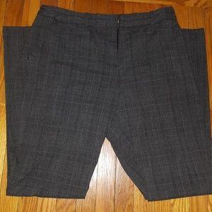 Worthington charcoal plaid career pants size 10